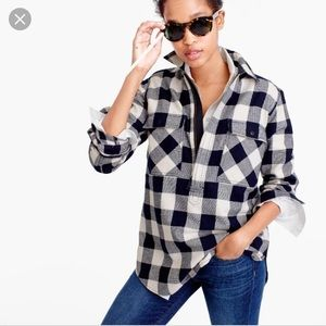 JCrew Buffalo Check Shirt Jacket, size XS
